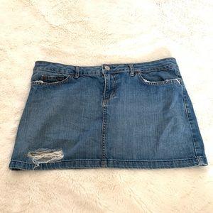 Lux Anthropologie Denim Mini Skirt